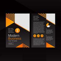 Modello di volantino arancione moderno di affari