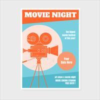 Modello di poster Night Movie vettore