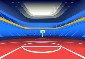 Illustrtation di vettore del fondo di vista dello stadio di pallacanestro