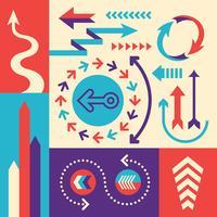 Set di frecce vettore