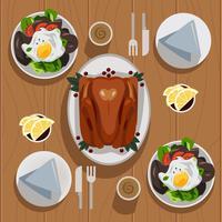 tavola del ringraziamento vettore