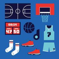 Pacchetto di elementi di pallacanestro vettore
