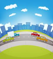 Cartone stradale del fumetto vettore