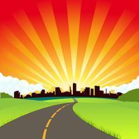 La strada per la città vettore