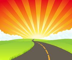 strada verso il paradiso vettore