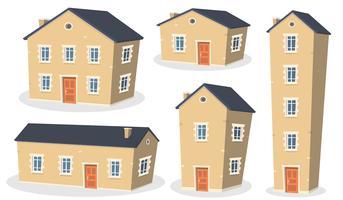 Set di casa dei cartoni animati