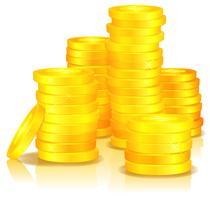 Monete d'oro vettore