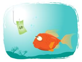 Pesca con soldi vettore
