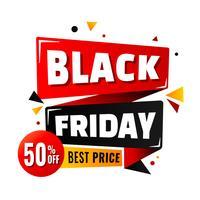 Design di layout del poster di vendita di Black Friday vettore