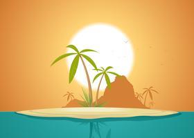 Poster idilliaco dell'isola vettore
