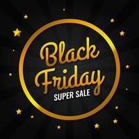 Modello di progettazione di vendita oro nero venerdì