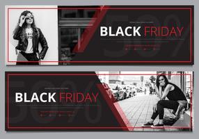 Modello di Banner di vendita di Black Friday Mock Up Pronto per l'uso