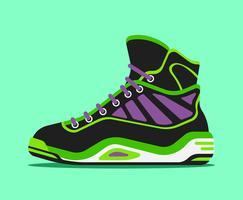 Illustrazione di scarpe da basket vettore