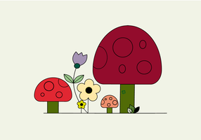 Vettore di funghi gratis