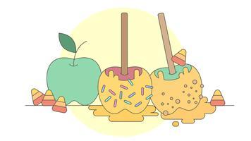 vettore di mela caramelle