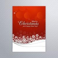 Bello manifesto della carta di Buon Natale con il modello B dell'opuscolo vettore
