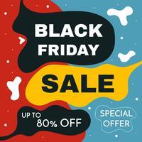 Banner di vendita di Black Friday