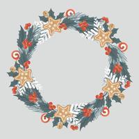 vettore corona di Natale