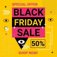 Vettore dell'insegna di vendita di Black Friday