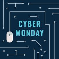 Post Cyber Monday elettronico vettore