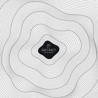disegno astratto della copertura della maglia della linea del cerchio nero. curva di contorno digitale punto e linea ondulazione e onda con wireframe. concetto di tecnologia futuristica. illustrazione vettoriale