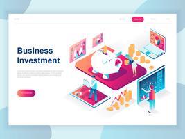 Banner web di investimento aziendale isometrica