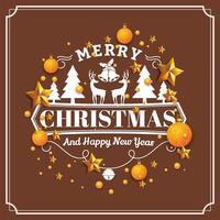 Natale e felice anno nuovo sfondo