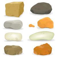 Set di pietre e rocce vettore