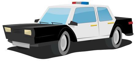 Macchina della polizia dei cartoni animati vettore