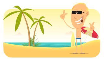 Banner di vacanze estive spiaggia vettore