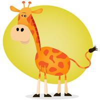 giraffa simpatico cartone animato vettore