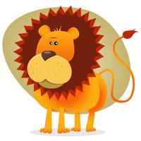 simpatico cartone animato re leone vettore