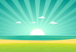spiaggia oltre i campi