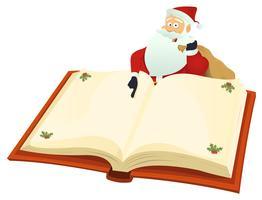 Babbo Natale che indica il libro vettore