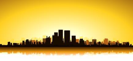 Paesaggio urbano d'oro vettore