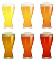 birre lager, ambra e birre set vettore