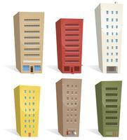 Set di edifici vettore