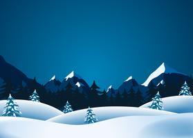 Inverno Lanscape vettore