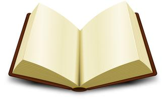 Libro aperto vettore
