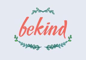 essere gentile lettering vettoriale