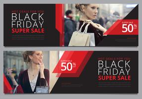 Modello di Banner di vendita di Black Friday Mock Up Pronto per l'uso