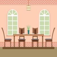 Vettore accogliente delle regolazioni della sala da pranzo
