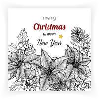 Sfondi di Natale e Capodanno e biglietto di auguri vettore