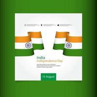 illustrazione di progettazione del modello di vettore di celebrazione del giorno dell'indipendenza dell'india