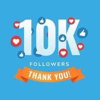 I siti di social follower di 10k postano il biglietto di auguri