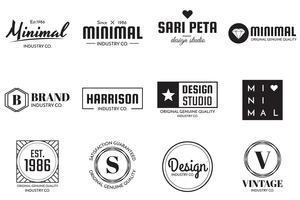 Logo vettoriale minimal per banner, poster, flyer