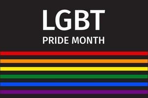 design dell'orgoglio arcobaleno del mese lgbt vettore