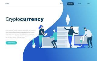 Moderno concetto di design piatto di Cryptocurrency Exchange vettore