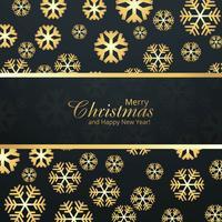 Celebrazione della cartolina di Natale merry con sfondo di fiocco di neve