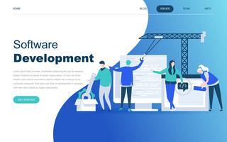 Moderno concetto di design piatto di sviluppo software vettore